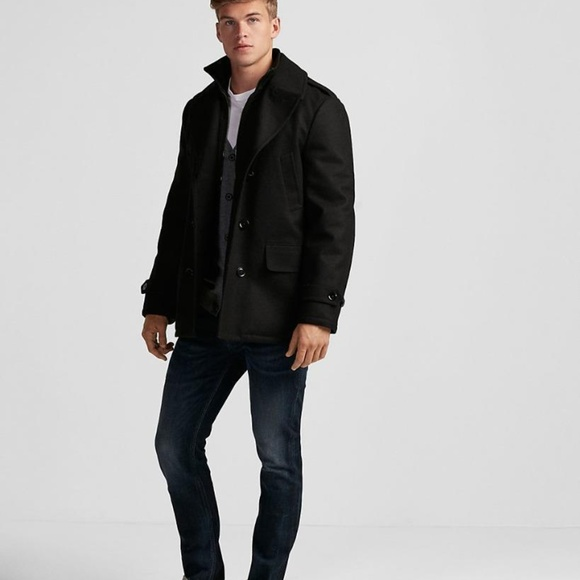 Express Other - NEW EXPRESS recycled wool water resistant pea coat